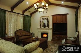 美式风格小别墅客厅装修效果图