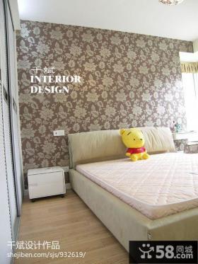 卧室床头壁纸背景墙图大全2013图片
