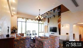 2012年欧式田园客厅吊顶装修效果图