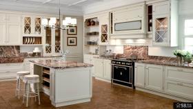 欧式厨房整体橱柜设计效果图2014