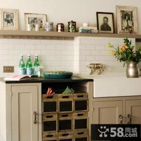 6万打造90平米简约风格厨房装修效果图大全2014图片