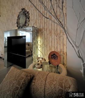 欧式客厅电视背景墙图