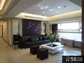 126平米现代风格三居设计装修图片