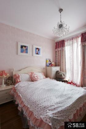 韩式田园风格装修卧室效果图