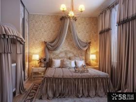 主卧室装修效果图大全2012图片 欧式卧室窗帘图片