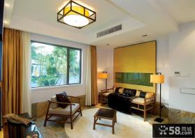 时尚复古中式客厅装饰设计