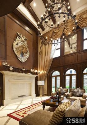 古典欧式客厅背景墙装饰图片