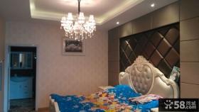 欧式家装卧室水晶吊灯图片欣赏