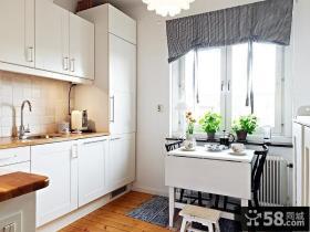 复式楼北欧风格厨房橱柜装修效果图大全2012图片