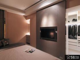 现代家装设计卧室电视背景墙效果图