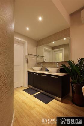 现代简约风格整体浴室柜效果图片