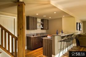 美式复式阁楼厨房装修效果图
