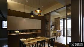 日式现代风格餐厅装饰效果图