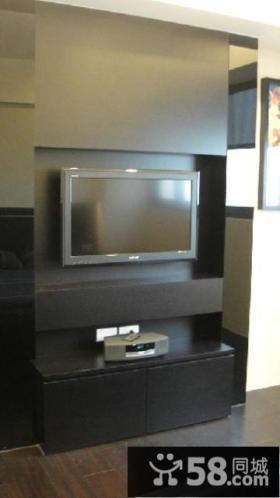 现代风格装修设计电视背景墙图