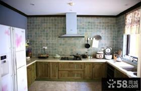 美式乡村风格厨房设计效果图片