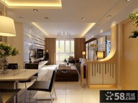 现代客厅玄关隔断装修设计图片