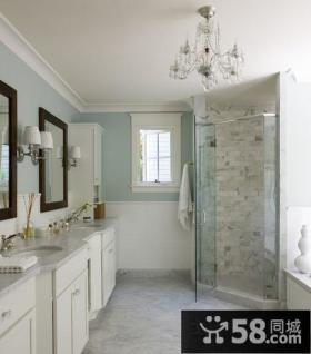 白色简约美式风格客厅装修效果图大全2012图片