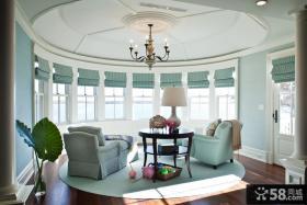 室内阳台圆形吊顶造型设计
