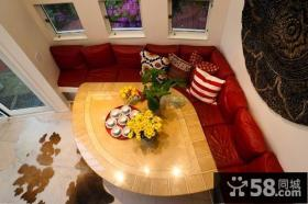 美式乡村别墅客厅沙发装修效果图大全2012图片