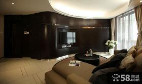 现代风格三室两厅客厅沙发背景墙效果图