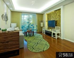 现代风格客厅电视背景墙装修设计图