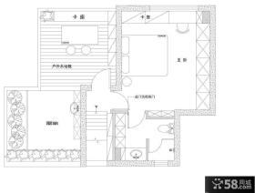 复式楼二楼平面布置图