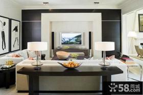 现代风格客厅电视背景墙设计效果图大全