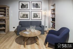 现代美式混搭风格客厅设计
