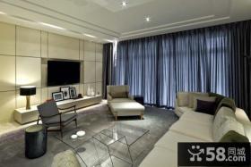豪华舒适的后现代电视背景墙装修效果图大全2014图片