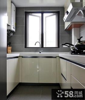 现代风格厨房整体橱柜装修设计图