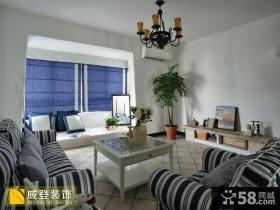地中海风格小户型装修客厅图片