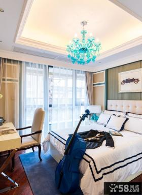 法式田园风格别墅室内卧室装修图片