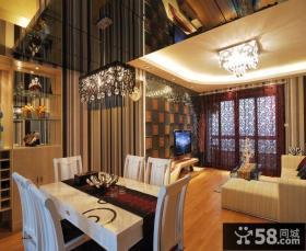 欧式风格50平米小户型客厅餐厅装修效果图