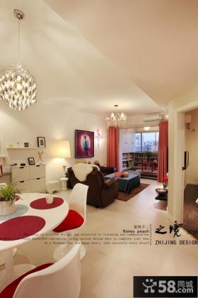 现代风格80平米二居室内装修效果图