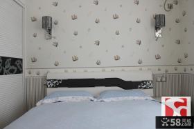 简约风格小卧室墙纸装修效果图