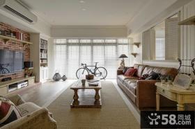 美式风格三室两厅装修效果图片欣赏