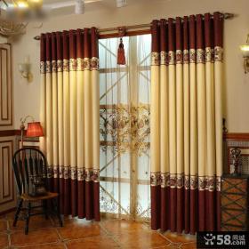 美式风格客厅窗帘设计