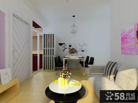 5万打造温馨简约风格客厅装修效果图大全2014图片