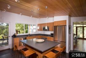 家装餐厅桑拿板吊顶效果图