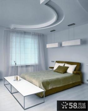 现代装修样板房卧室效果图