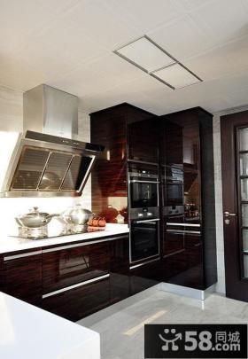 现代古典风格复式厨房装饰效果图