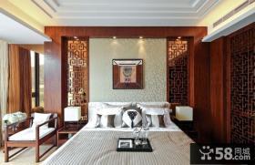 中式卧室背景墙图片欣赏