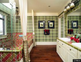 美式乡村风格样板间卫生间图片