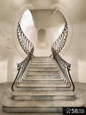 别墅室内楼梯设计效果图片
