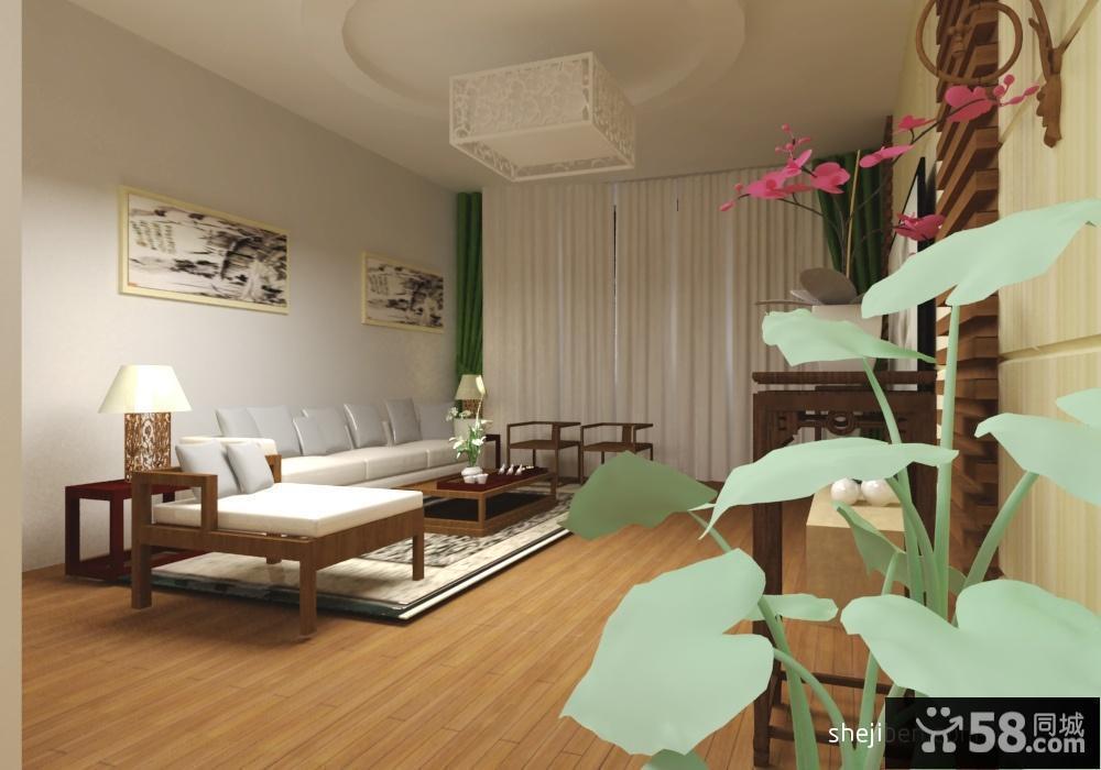 现代中式客厅吊顶装修设计