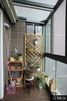 封闭式小阳台设计效果图片大全