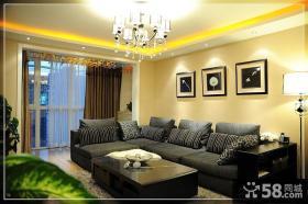 简约客厅沙发背景墙装饰画效果图