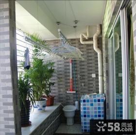 小阳台洗衣机装修效果图