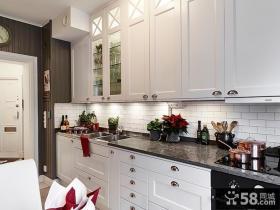 厨房欧式实木橱柜效果图片欣赏