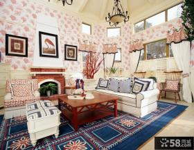 别墅样板房客厅装修效果图欣赏